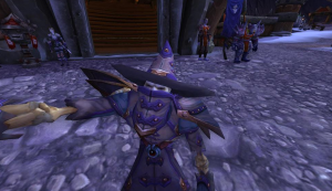 Here's my undead warlock Vrego, taking the time to take a selfie!